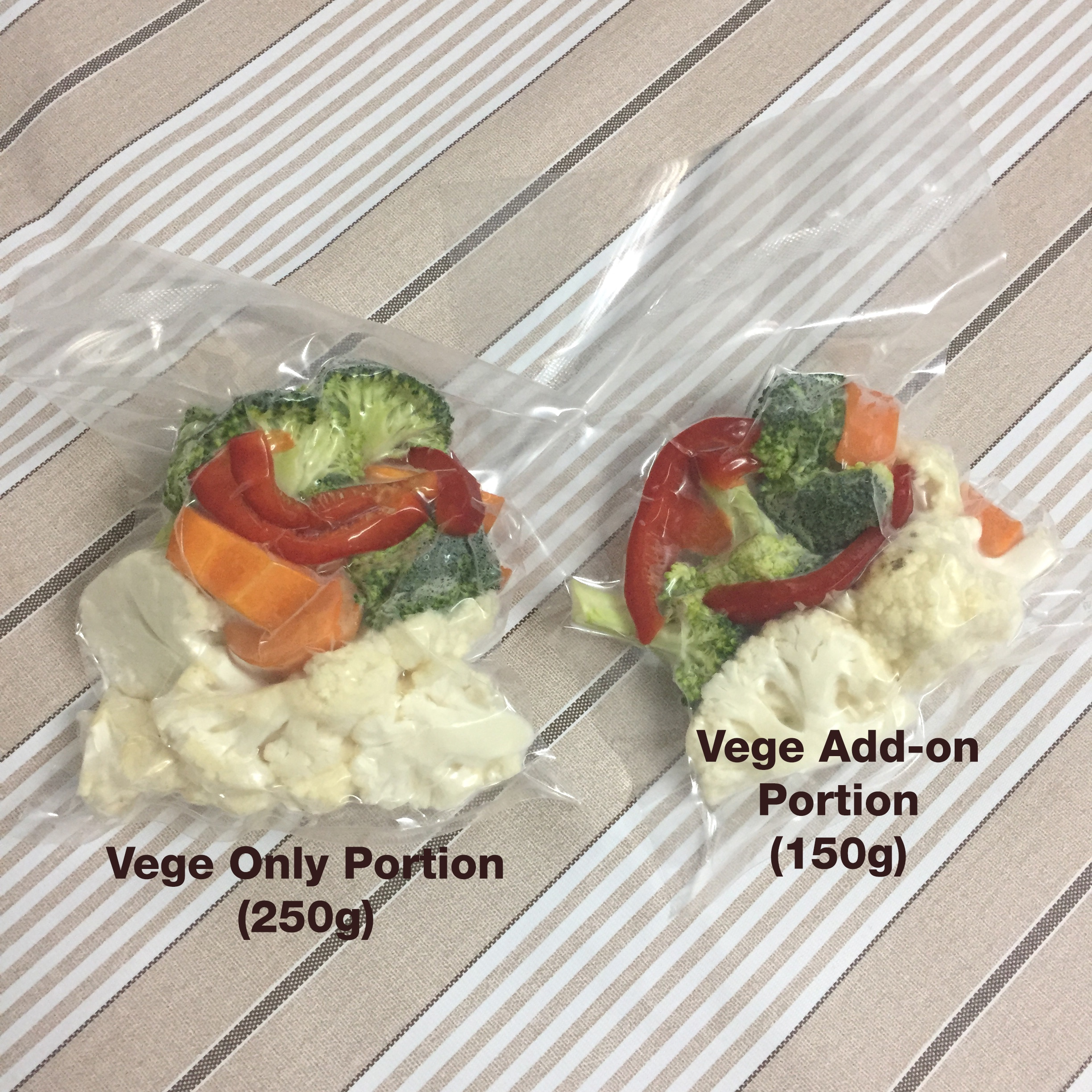 UPDATE: FREE Delivery, Separate Vege Pack